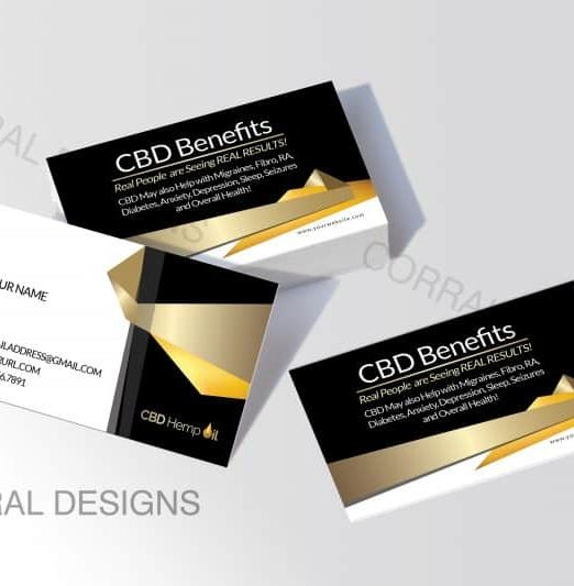 CBD Oil Business Cards