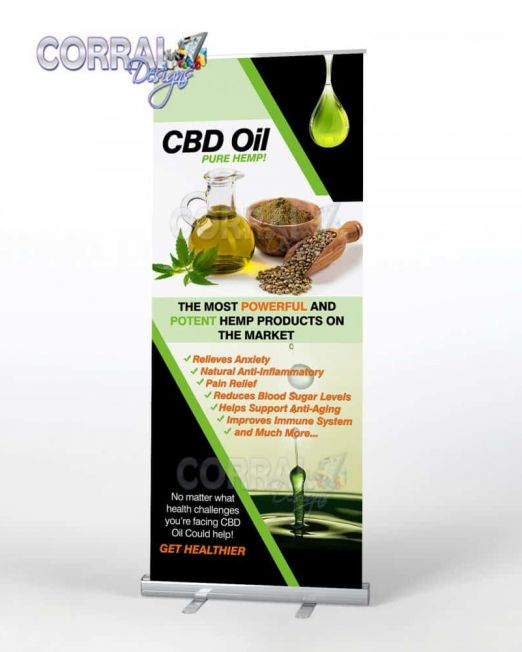 CBD Oil Retractable Banners