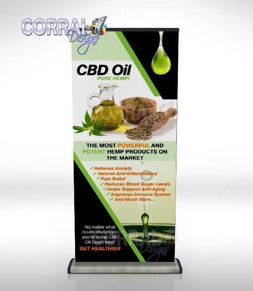 CBD Oil Retractable Banners