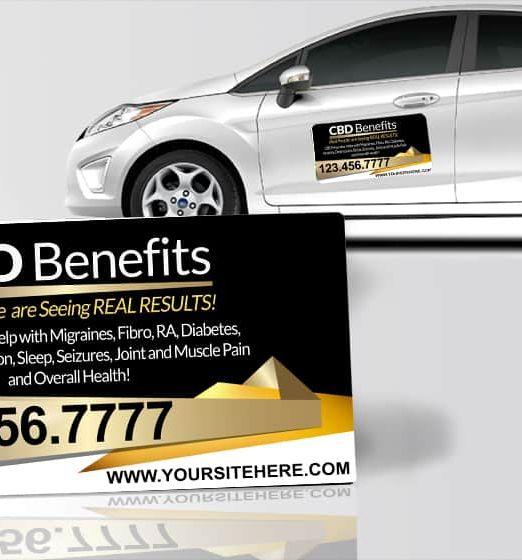 CBD Oil Car Magnets