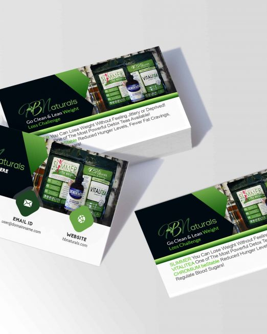 HBNaturals Weight Loss Business Cards