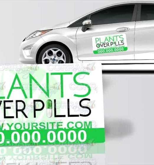 plants-over-pills-car-magnet