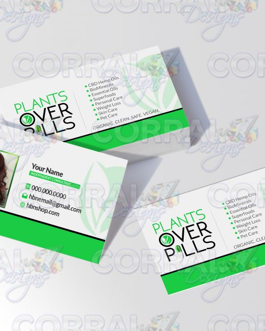 plants over pills Business cards