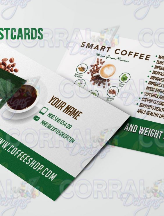 Nova Smart Coffee Postcards - HBN Marketing Tools